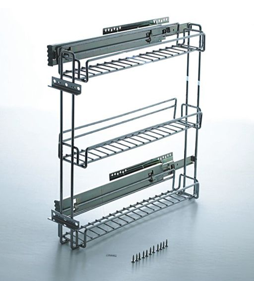 Perfect 3 Inch Pullout Kitchen Spice Rack Cabinet | Pull Out Cabinet Spice Rack
