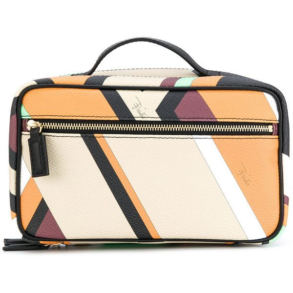 Emilio Pucci multi-pattern make-up bag (2.145 RON) ❤ liked on Polyvore featuring beauty products, beauty accessories, bags & cases, travel bag, travel toiletry case, emilio pucci, dop kit and toiletry kits