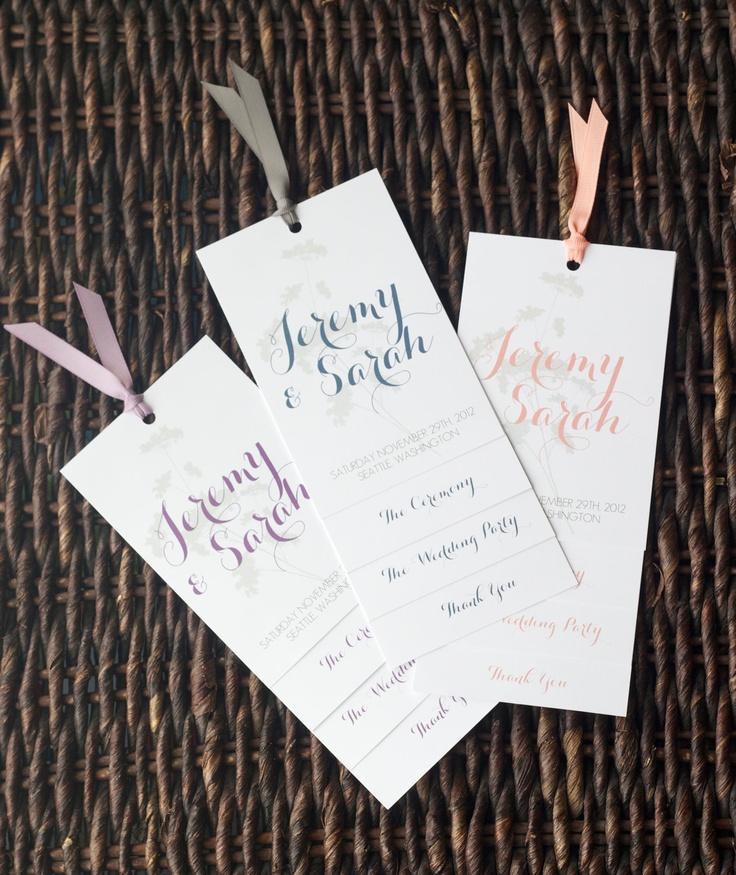 100 Custom Layered Wedding Programs