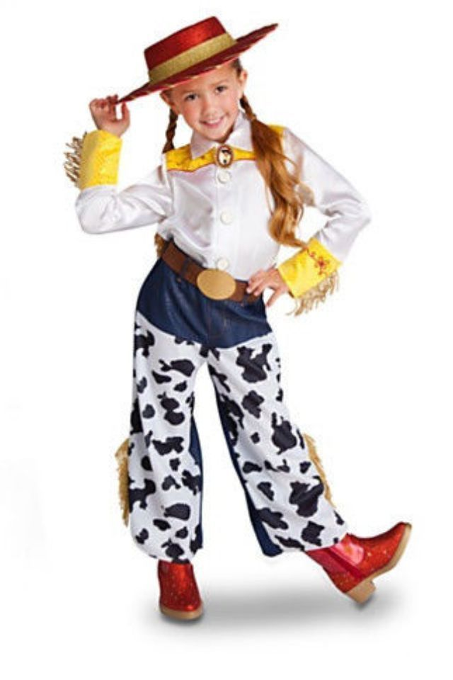 NWT Disney Store 'Cowgirl Jessie' Halloween Costume Size 2/3, 4, 5/6, 7/8 #DisneyStore #ShirtPants