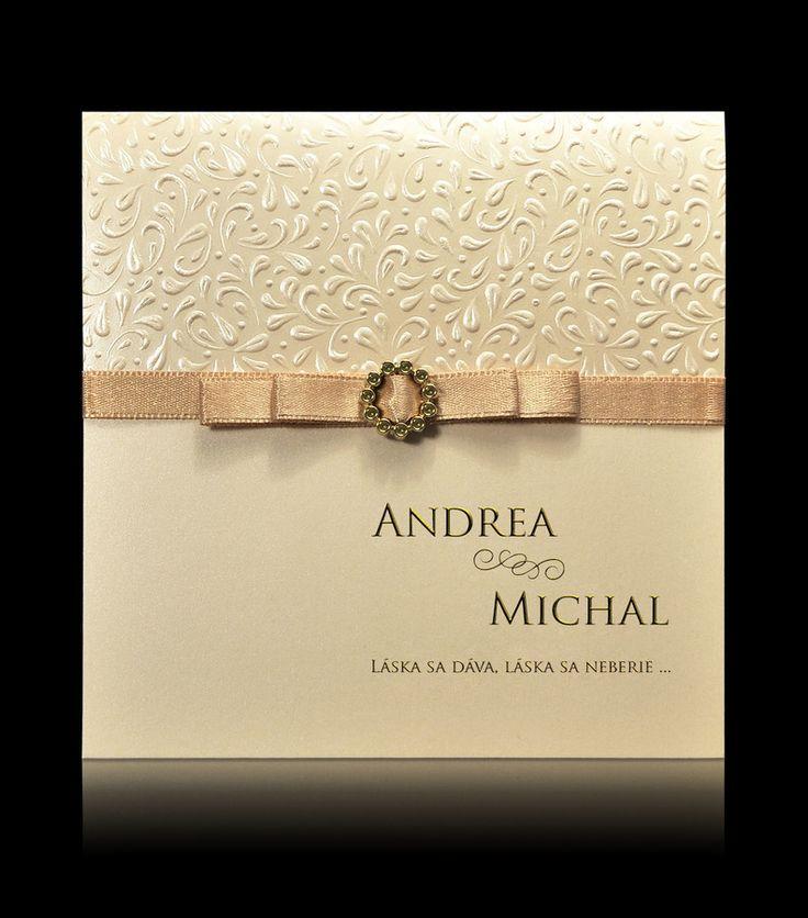 Svadobné oznámenie D 0602 - Luxusné svadobné oznámenia|Pamas