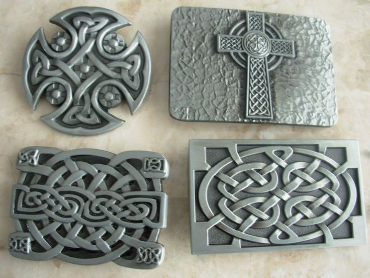 CELTIC BELT BUCKLE JOB LOT CROSS KNOT SHIELD GIFT GOTHIC GOTH MOTORBIKE BUCKLES #Unbranded