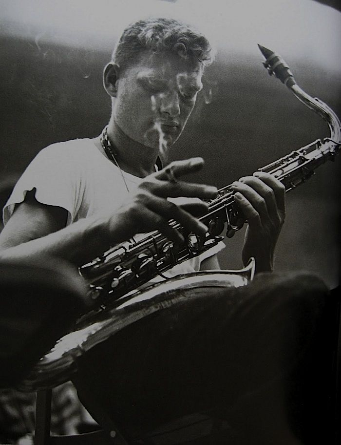 iconic Zoot Sims photo by William Claxton -- early 1950s