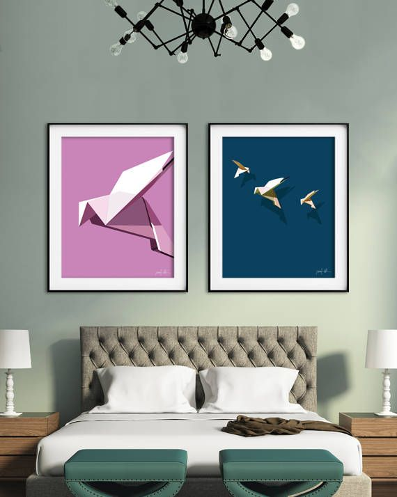 Dove print Nursery wall art Printable pink art Digital