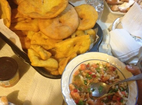 Sopaipillas are a delicious, traditional fried pastry made with pumpkin & flour.
