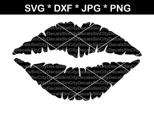 Lips, mouth, kiss, digital download, SVG, DXF, cut file, personal, commercial, use with Silhouette Cameo, Cricut and Die Cutting Machines