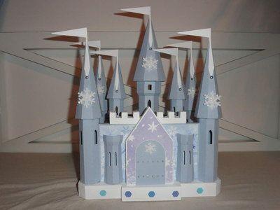 Château Reine des Neiges en 3D: