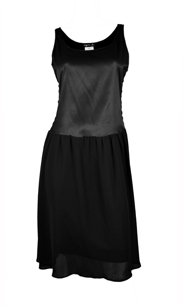 ♥ AGNES B ♥ ROBE NUISETTE NOIRE EN SOIE T. 40 via LES COCOTTES. Click on the image to see more!