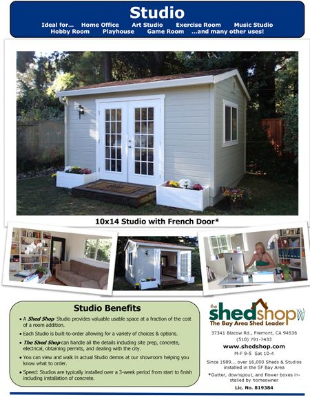 1000 ideas about room additions on pinterest family for Studio shed prices