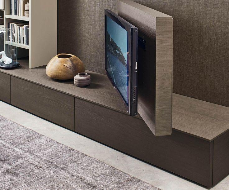Livitalia Wohnwand C45   Tv möbel freistehend, Wohnwand, Designer wohnwand