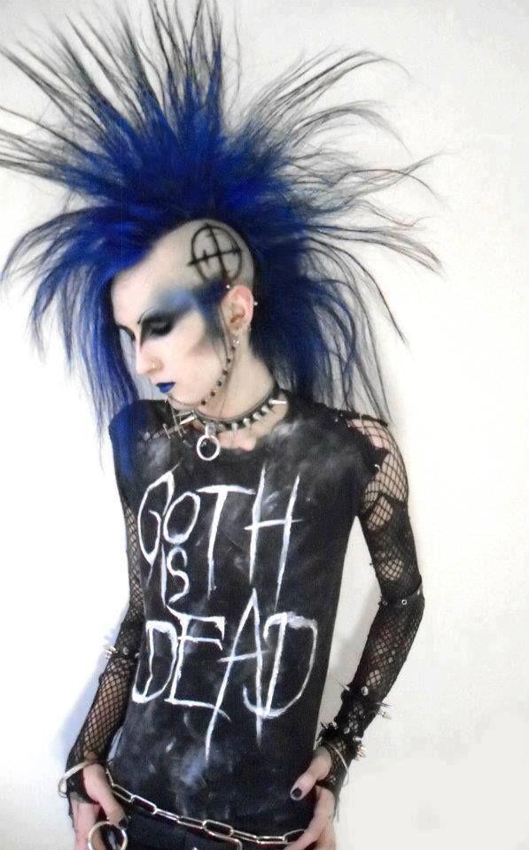 #Deathhawk Blue #Mohawk † #DeathRocker Fashion