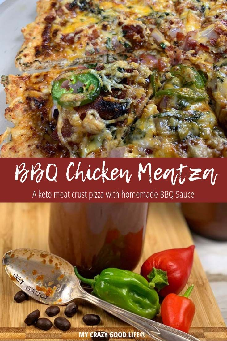 This BBQ Chicken Meatza is a delicious meat crust …