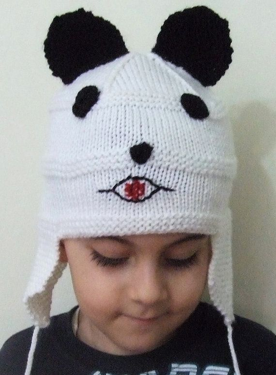 Children Hat Baby HatBaby Knit Hat White Hat Winter Hat by SELINCE