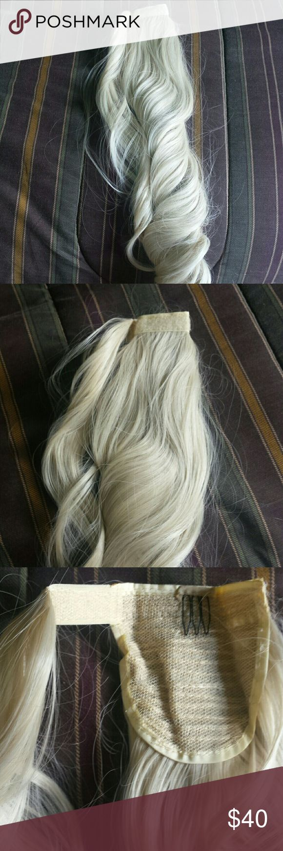 Wrap around ponytail hair piece Beautiful on brand new never used or worn . It wraps around ur pony tail Accessories Hair Accessories