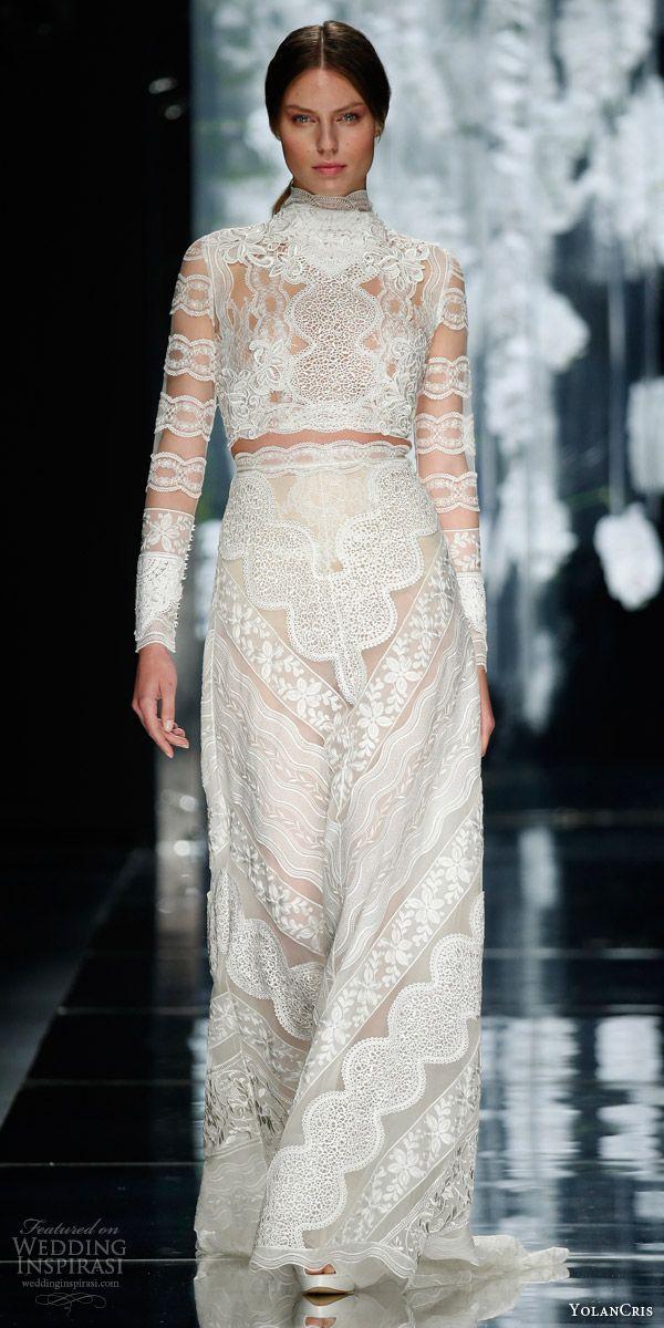 Yolancris Long Sleeve Wedding Dress : Wedding dress bohemian lace dresses weddings