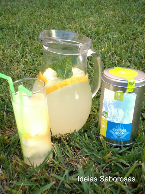 Limonada com chá Hortelã