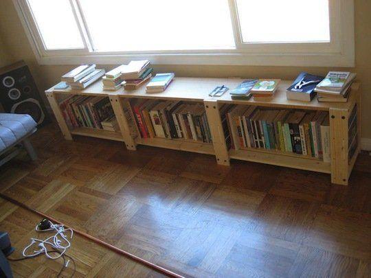 How To: Remix an IKEA Media Shelf Into a Window Seat