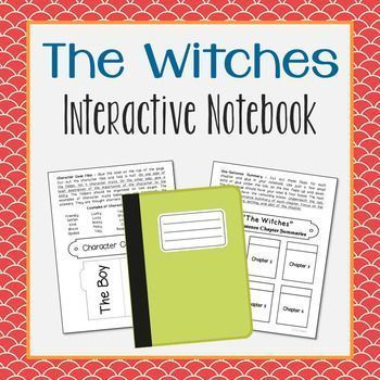 The Witches by Roald Dahl Interactive Notebook. This unit includes vocabulary terms, poetry, author biography research, themes, character traits, chapter summary, and note taking activities. All interactive pages have been designed with easy-to-cut and ea