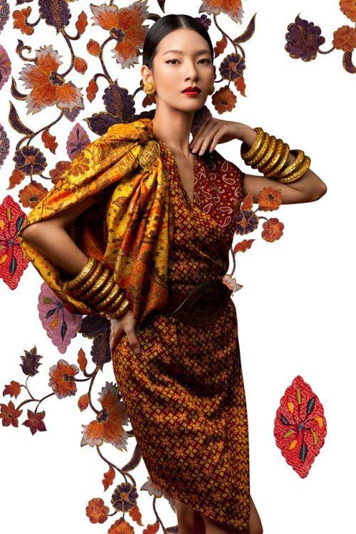 Marcella Tanaya by Ryan Tandya for Batik Keris 2015 #indonesian #fashion