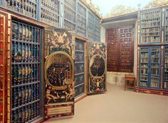 Biblioteca de la Universidad de Salamanca (la biblioteca universitaria más antigua de Europa) - España