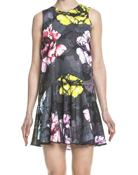 Mini abito floreale con gonna a volant -  Floral mini dress - by Maison Yamakabe http://www.lodishop.com/negozio/maison-yamakabe/ #dress #fashion #style #lodi #italy