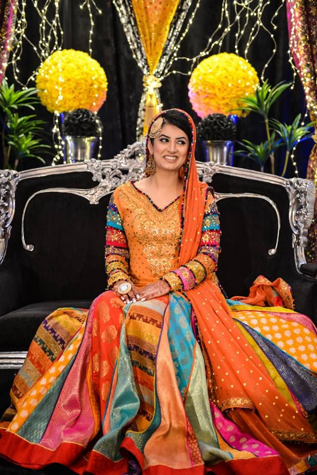 Love how vibrant and colorful this nikaah dress is! | Photo by Sadia Qaderi