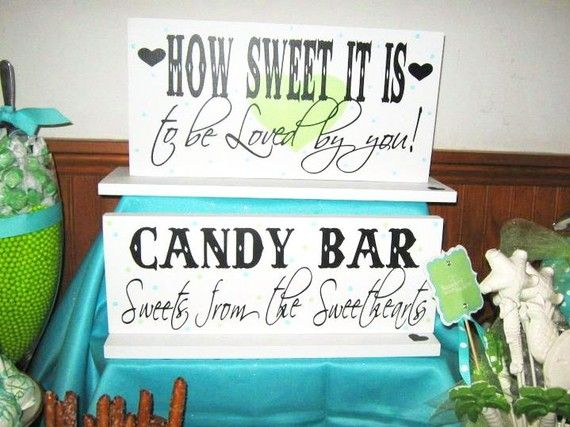 Candy bar at wedding, cute!  Gotta love James Taylor and candy