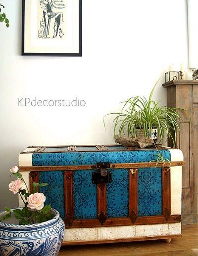 Muebles para almacenaje ba les al pie de cama decorar - Muebles restaurados vintage ...