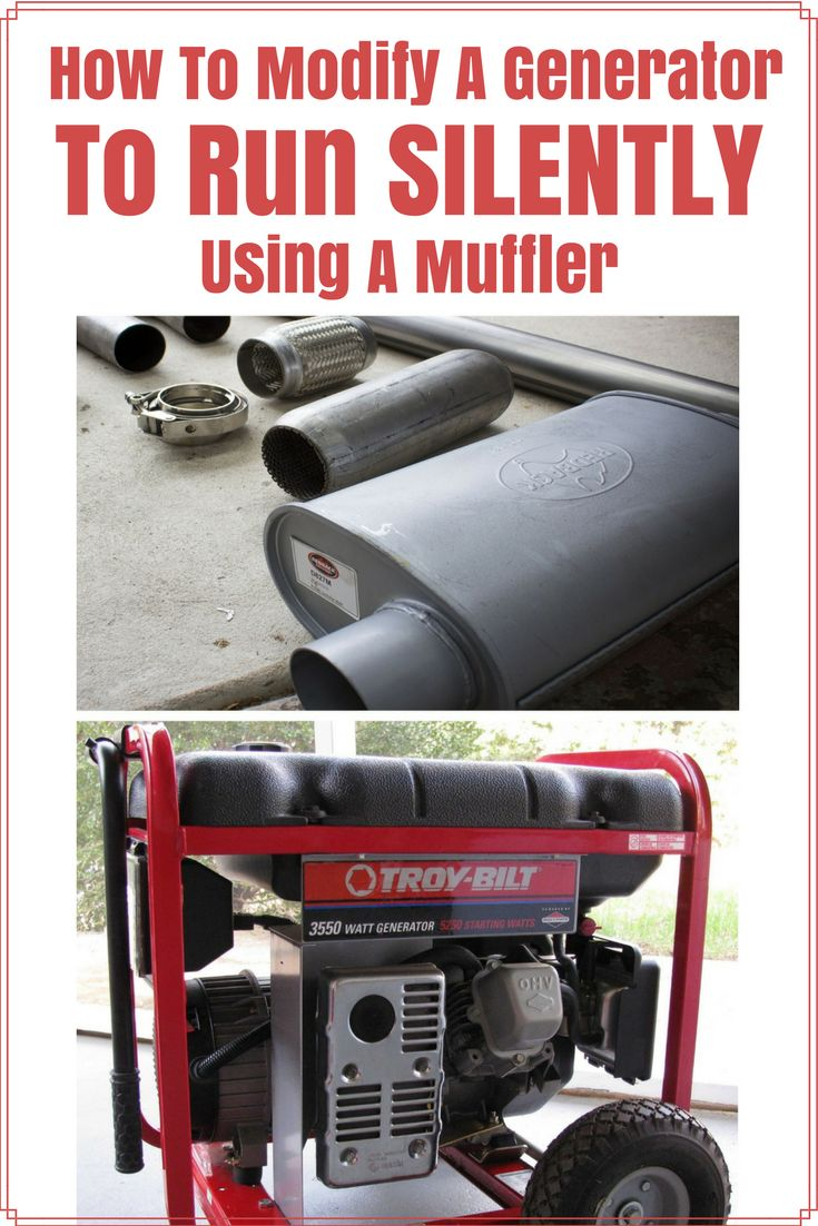 How To Modify Your Generator To Run Silently With A Muffler https://knowledgeweighsnothing.com/how-to-modify-your-generator-to-run-silently-well-almost-silently/