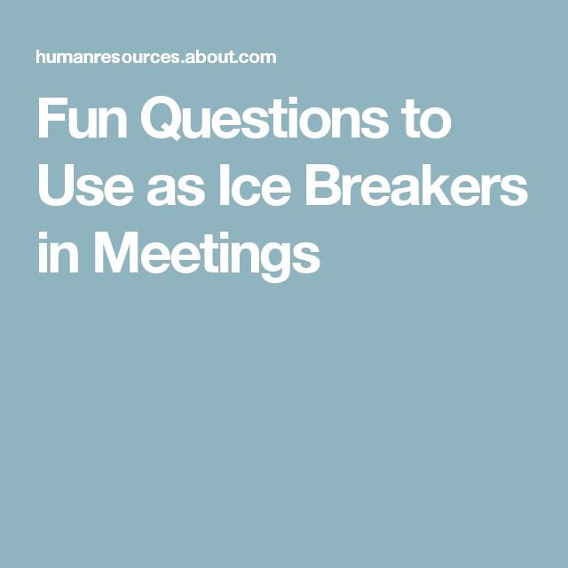 Funny ice breakers for dating sites