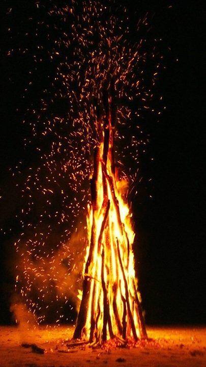 api unggun di pantai dedauanan