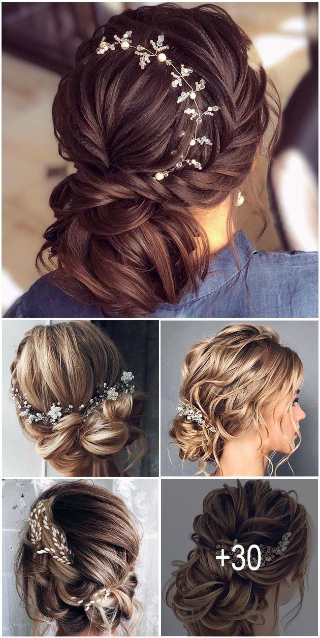 30 Stunning Wedding Hairstyles Every Hair Length ❤️ Creation of wedding hairstyle needs preparation. It'd be great if bride can make a trial version. Hope, our collection helps to make a right choice. See our gallery of blooming wedding hair and be inspired! #wedding #hairstyles #weddinghairstyles #weddinghairstyleseveryhairlength