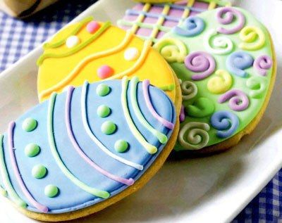 80 best baking things to do images on pinterest baking baking easter egg biscuits egg shaped biscuits cookies decorated for easter a negle Images
