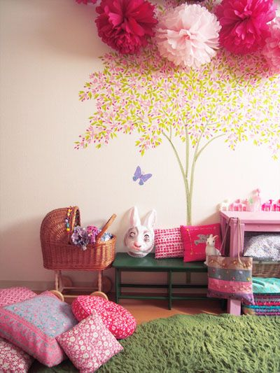 tree on the wall. Please ignore the creepy rabbit head