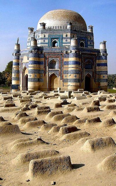 Tomb of Bibi Jawindi in Uch Sharif, Pakistan   by Arnim Schulz