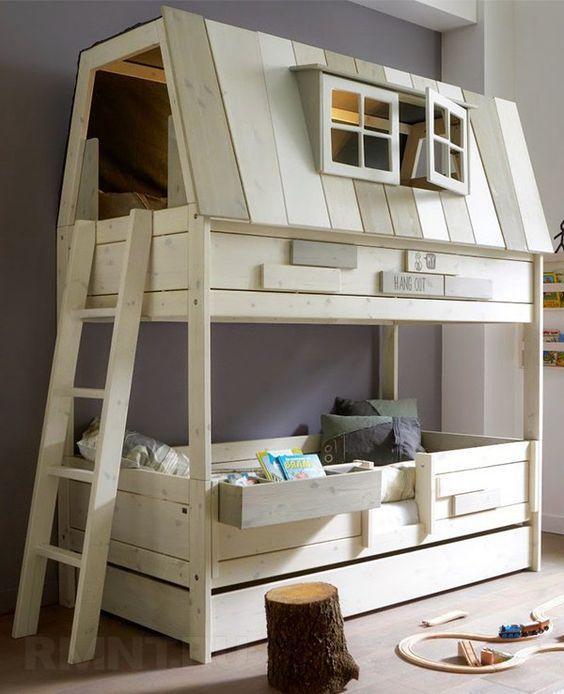 Детская двухъярусная кровать своими руками: чертежи, схемы, фото: