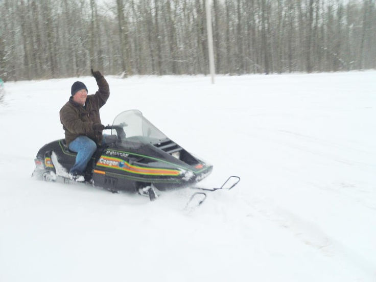 me today finally got my snowmobile out