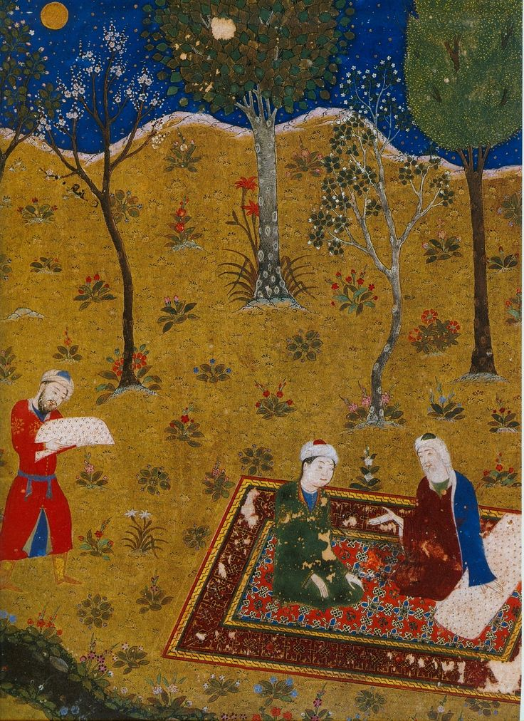 Miniature from Gulistan (Rose Garden) by Sa'di (1427)