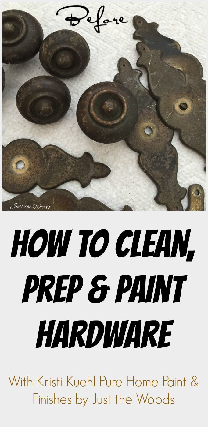 How to Clean, Prep and Paint Hardware by Just the Woods.  Dont assume that you need to replace vintage hardware because it doesn't look pretty. You can make it look pretty.