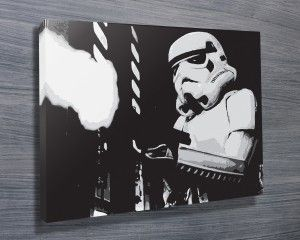 Stormtrooper II Art from $26.00. This amazing pop art features a stormtrooper from Star Wars on a stretched canvas print. As with all art on this site, we offer these prints as stretched canvas prints, framed print, rolled or paper print or wall stickers / decals. http://www.canvasprintsaustralia.net.au/  #birthdaypresentideas #popart  #retirementgifts