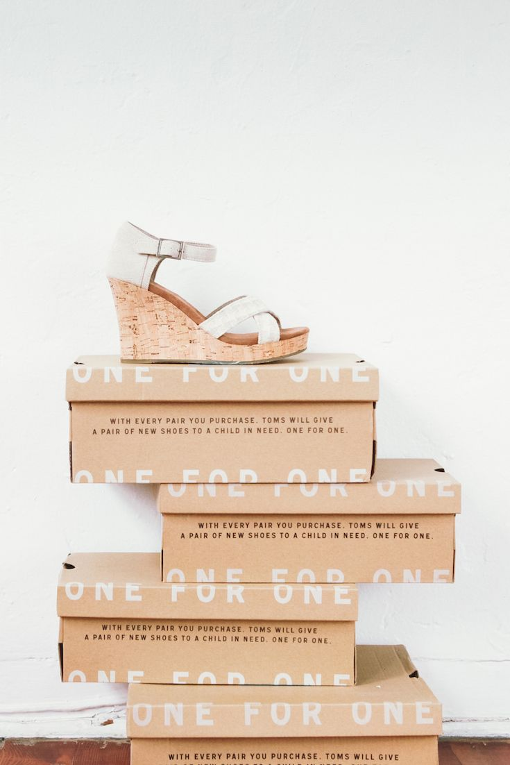 Stand tall and give back in TOMS Shoes on your wedding day.