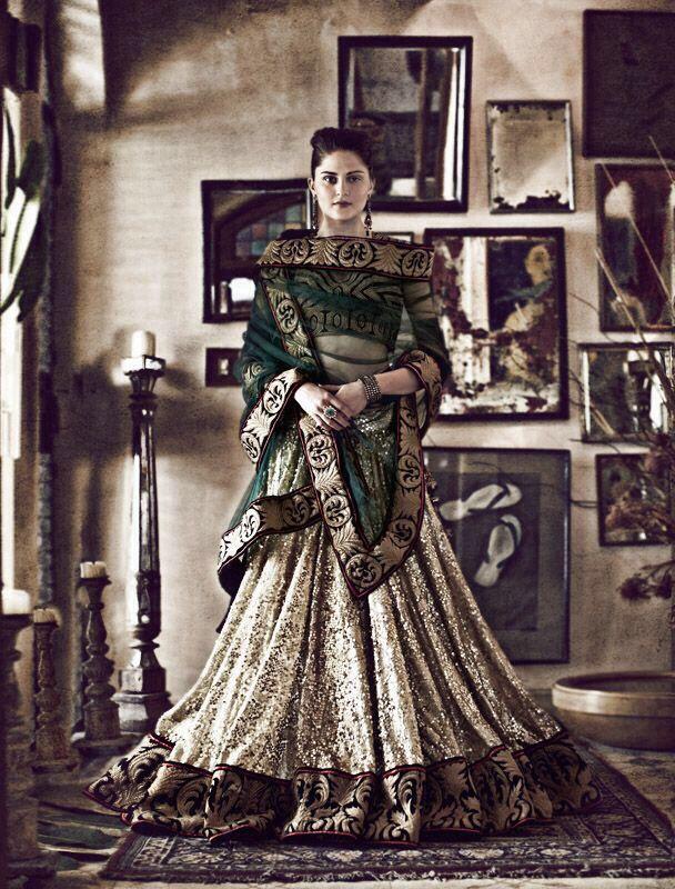 Gold, green and festive! #weddingwear #indian #bridal