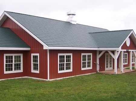 Red Siding And Metal Roof Metal Pinterest Red Houses