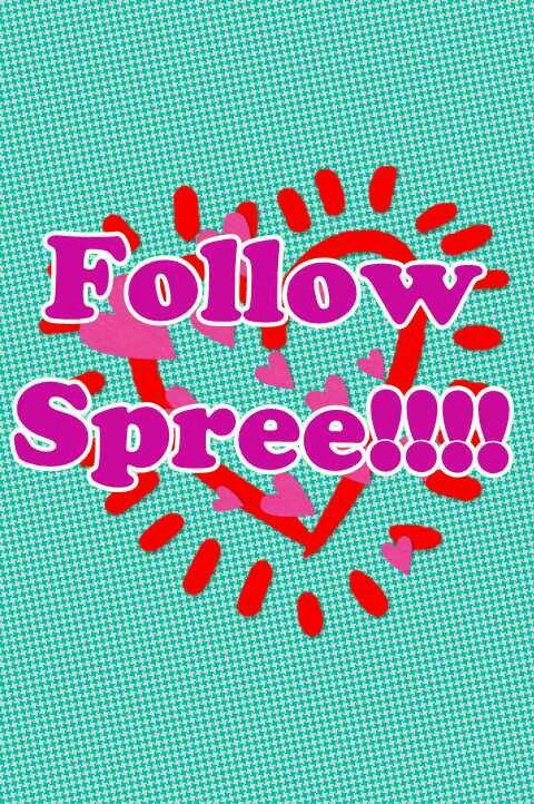 Hey I'm doing a follow spree! If you follow me I will follow you back! My friend and I are having a competition to get the most followers! Please help :-)