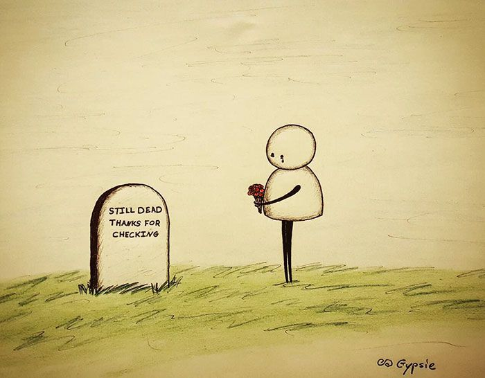 17 dessins à la fois très mignons et très glauques sur l'amour et la mort... qui vont vous faire réfléchir