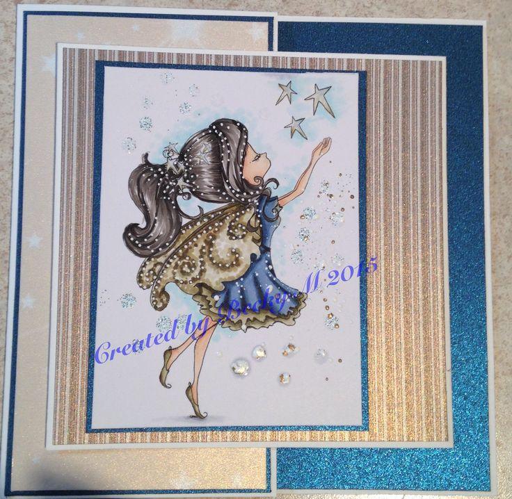 Tiddly Inks Fairy Fae. Joy fold card