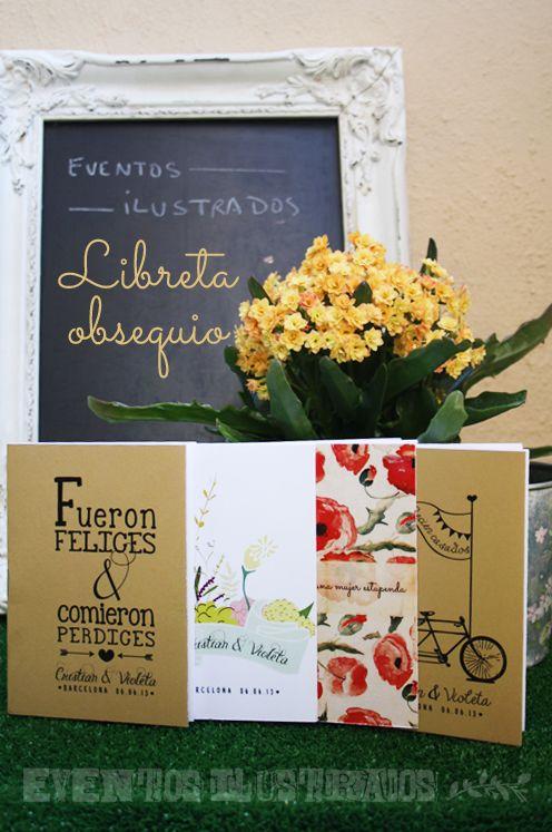 Libretas #personalizadas para #eventos #bodas