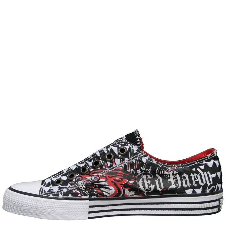 Ed Hardy Lowrise  Shoe for Kids - White - Yvonne's #shoes