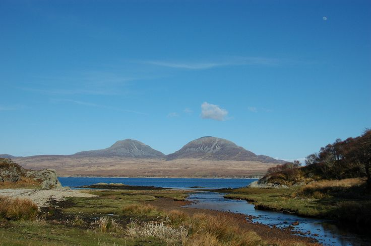 Paps of Jura from Margadale River, Isle of Islay