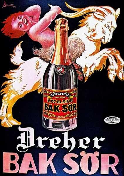 Dreher Bak sör reklámplakát nosztalgia poszter